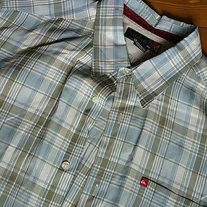 Quiksilver men's m short-sleeve button-up shirt